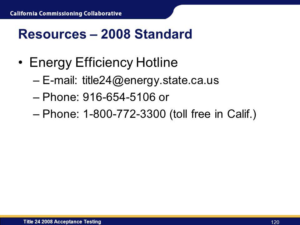 Energy Efficiency Hotline