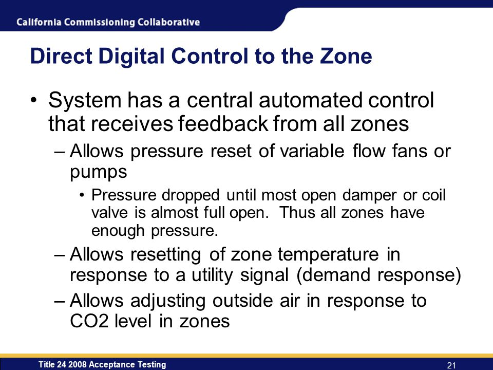 Direct Digital Control to the Zone