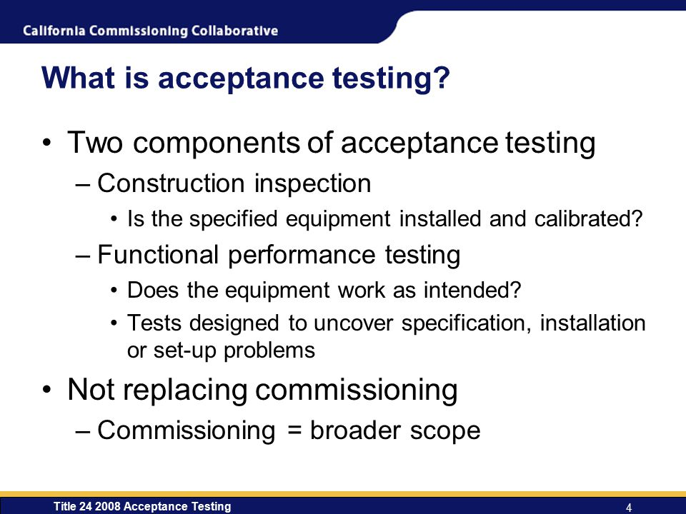 What is acceptance testing