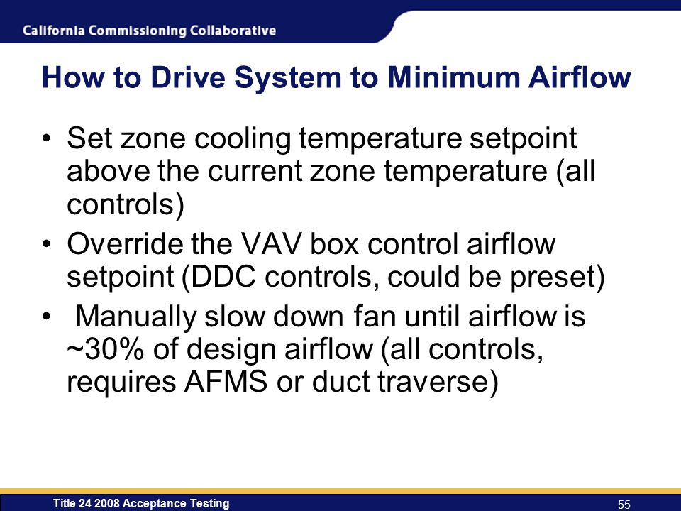 How to Drive System to Minimum Airflow
