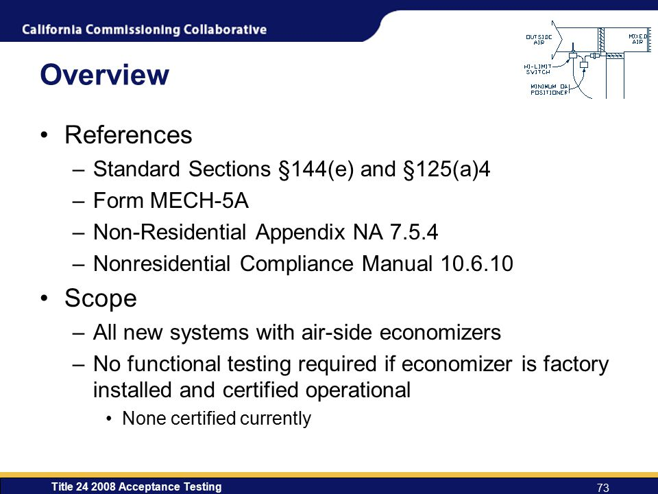 Overview References Scope Standard Sections §144(e) and §125(a)4