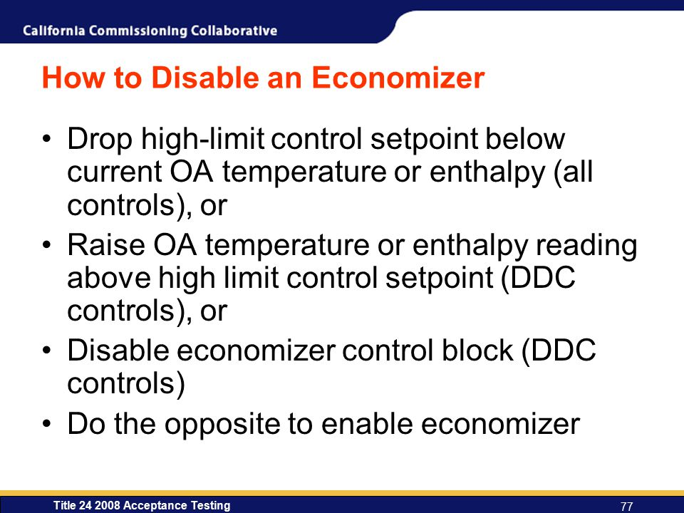 How to Disable an Economizer