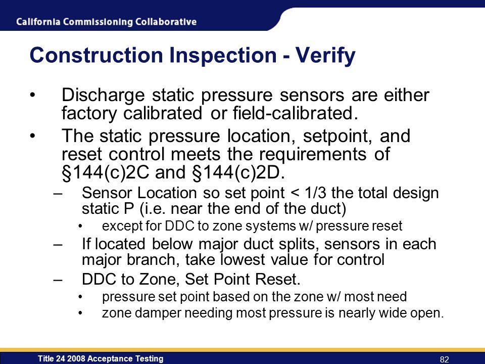Construction Inspection - Verify