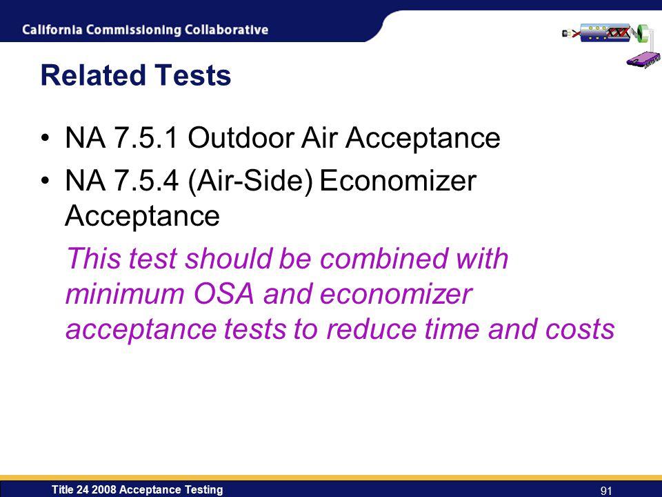 NA 7.5.1 Outdoor Air Acceptance