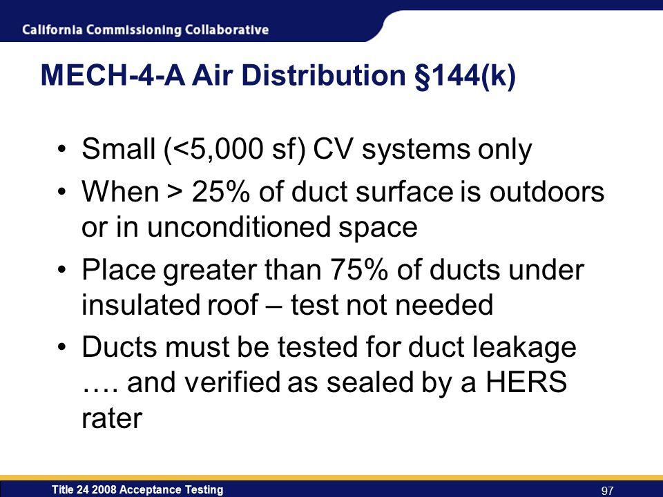 MECH-4-A Air Distribution §144(k)