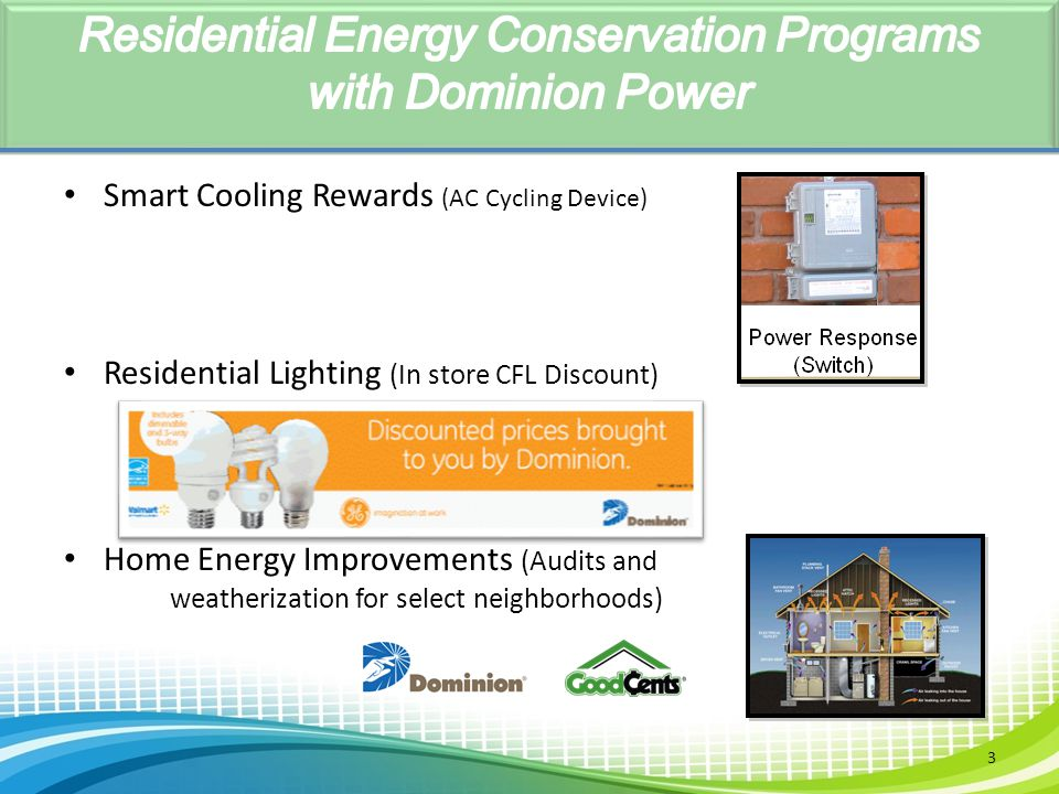 Residential Energy Conservation Programs