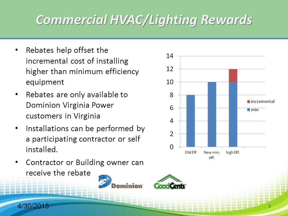 Commercial HVAC/Lighting Rewards