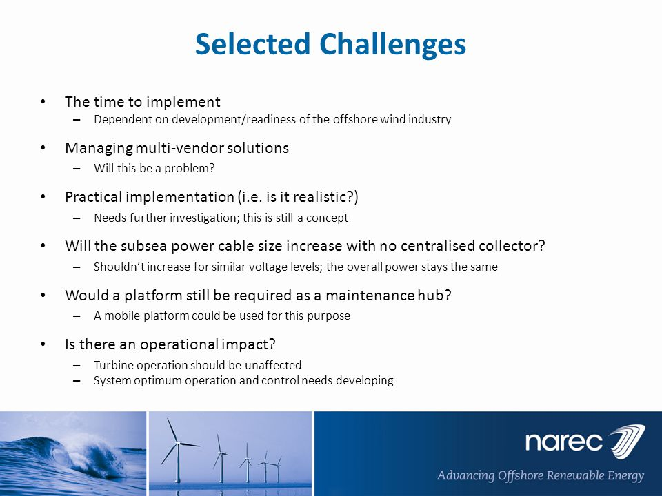 Selected Challenges The time to implement