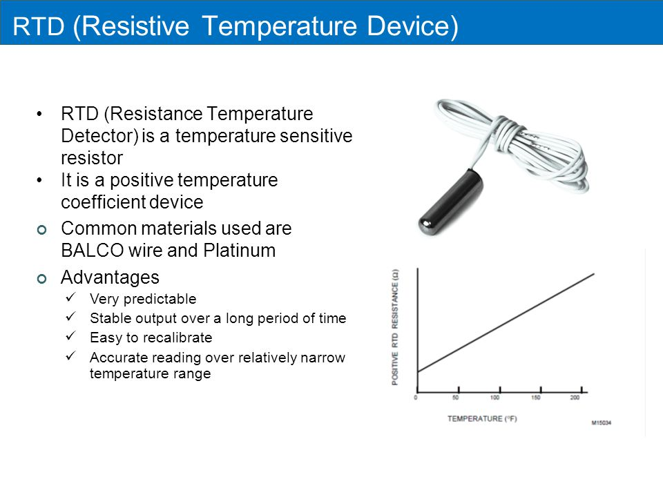 RTD (Resistive Temperature Device)