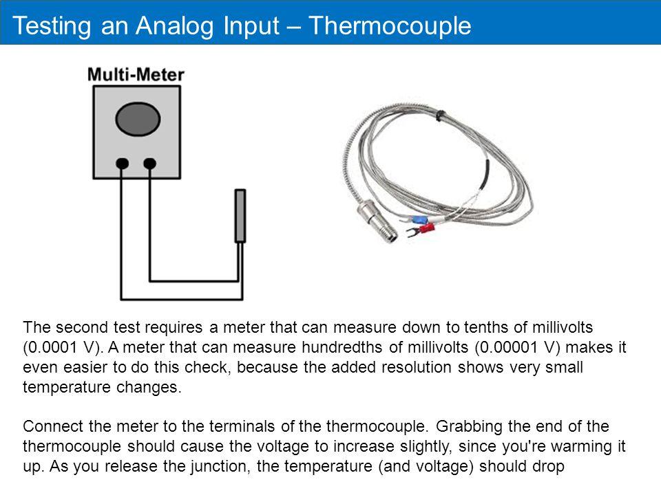 Testing an Analog Input – Thermocouple