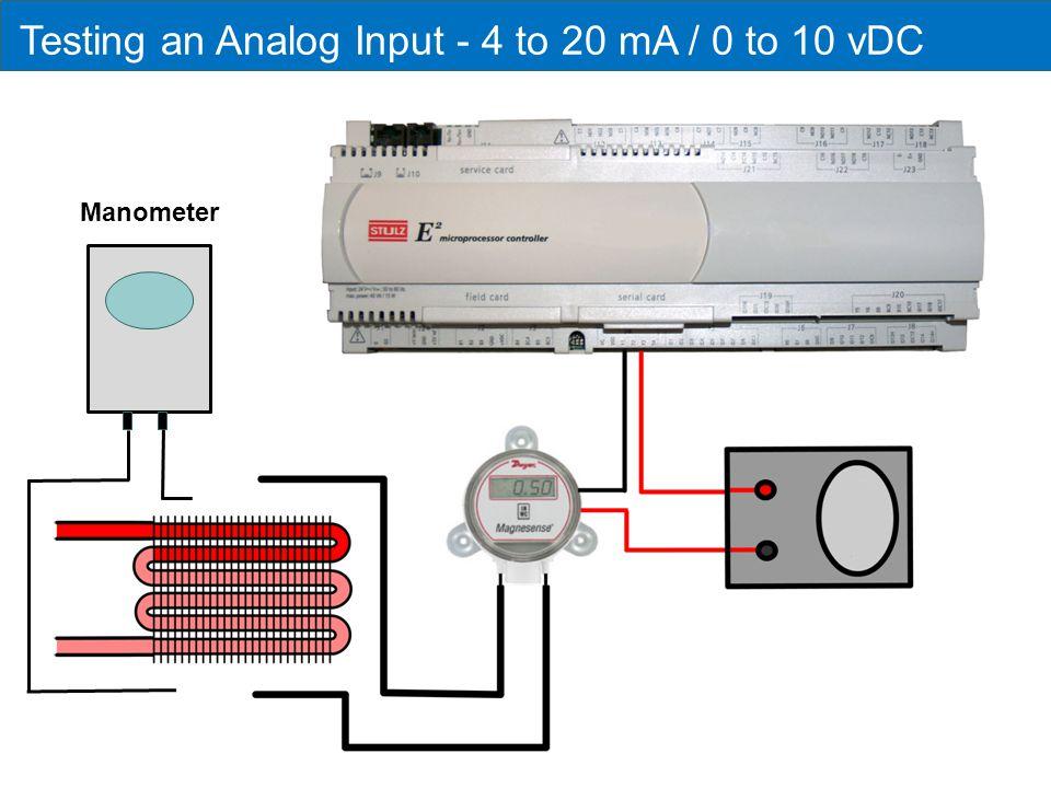 Testing an Analog Input - 4 to 20 mA / 0 to 10 vDC