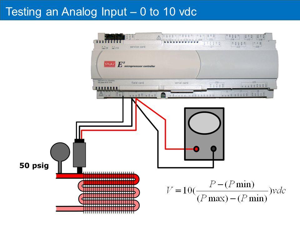 Testing an Analog Input – 0 to 10 vdc