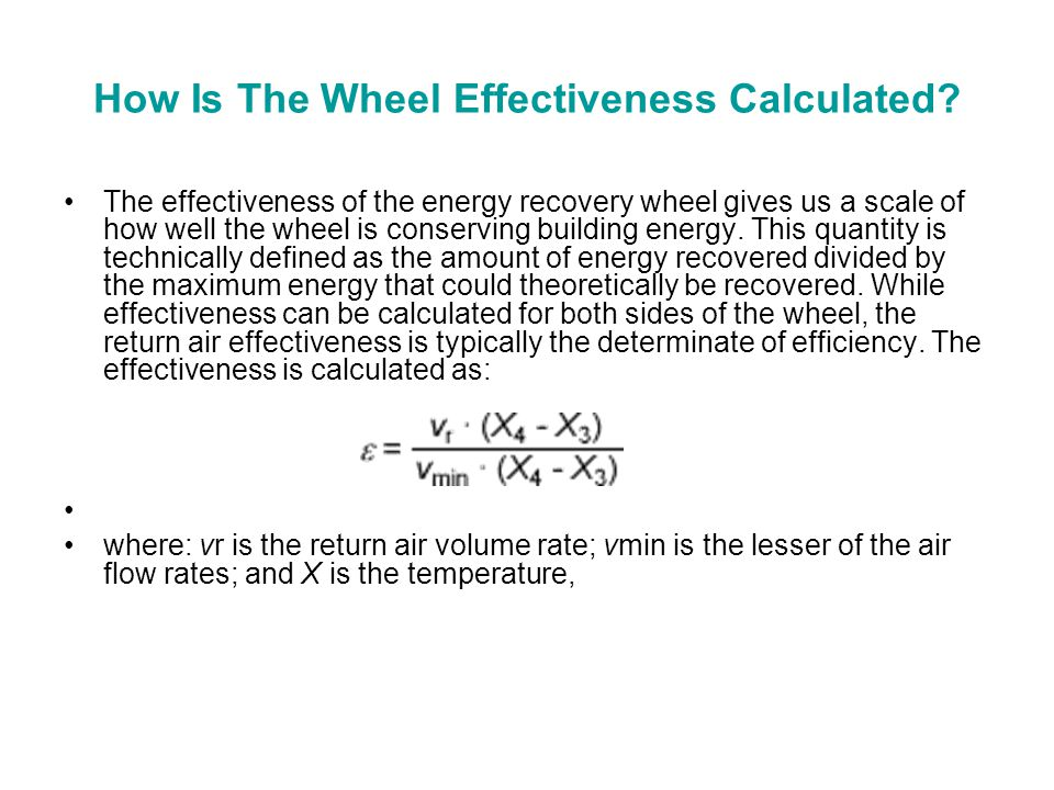 How Is The Wheel Effectiveness Calculated