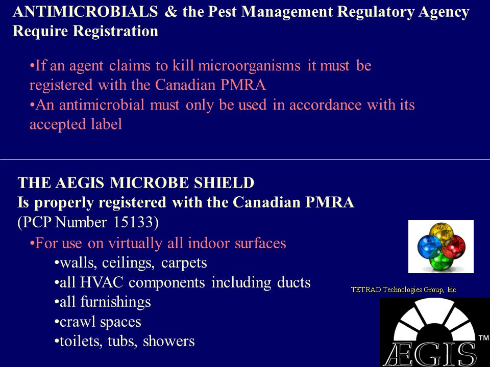 ANTIMICROBIALS & the Pest Management Regulatory Agency