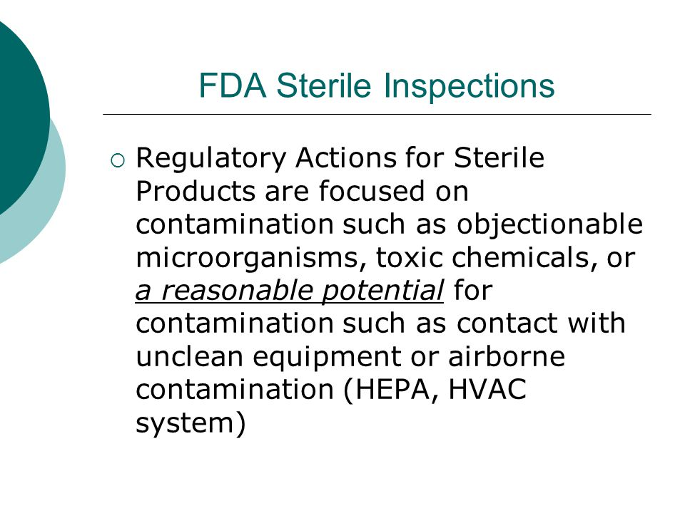 FDA Sterile Inspections