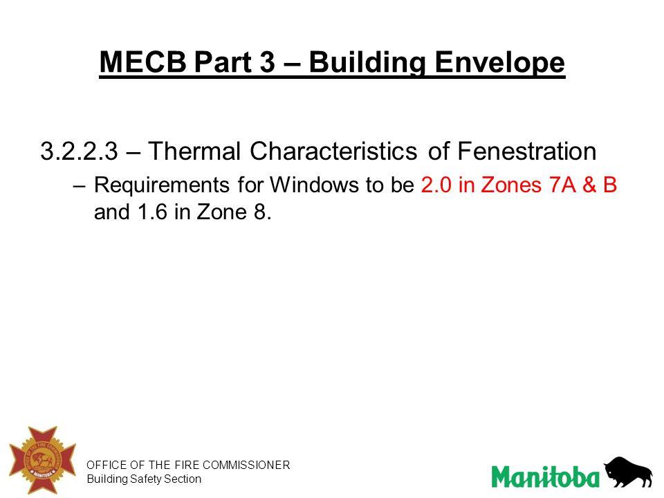 MECB Part 3 – Building Envelope