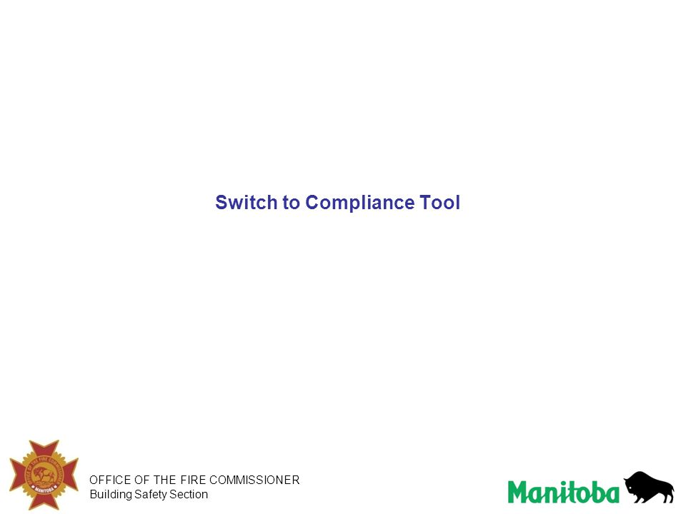 Switch to Compliance Tool