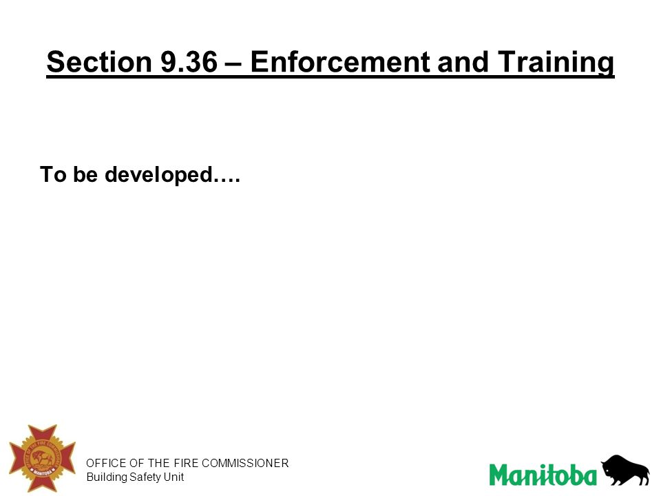 Section 9.36 – Enforcement and Training