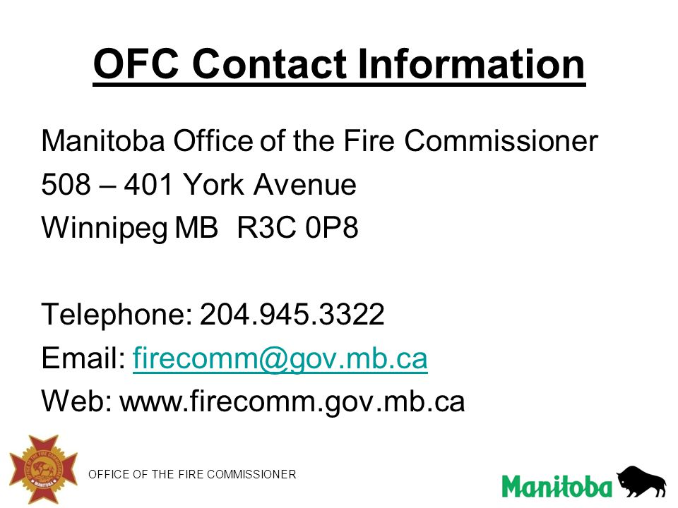 OFC Contact Information