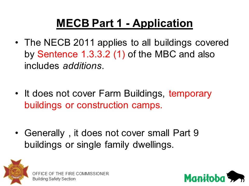 MECB Part 1 - Application
