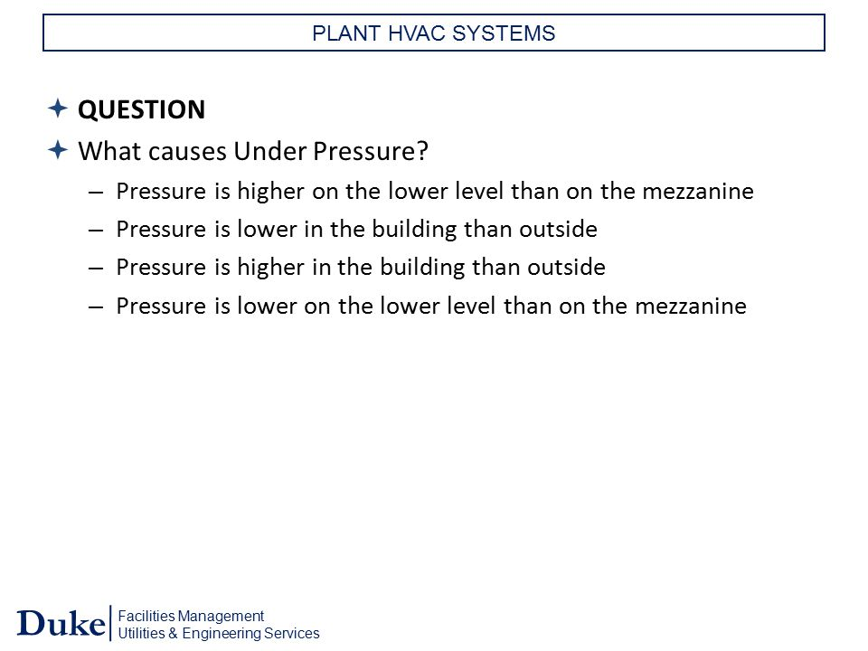 What causes Under Pressure