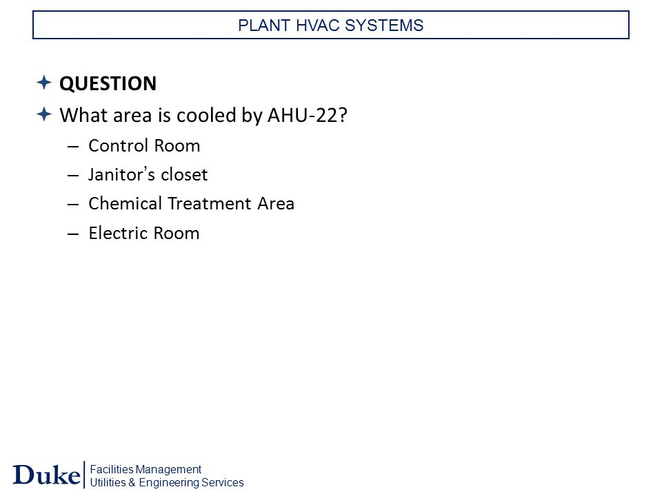 What area is cooled by AHU-22