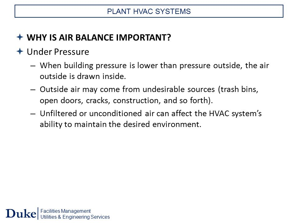 WHY IS AIR BALANCE IMPORTANT Under Pressure