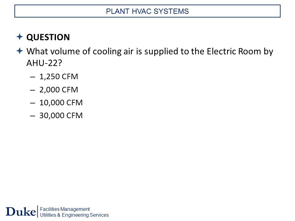 What volume of cooling air is supplied to the Electric Room by AHU-22