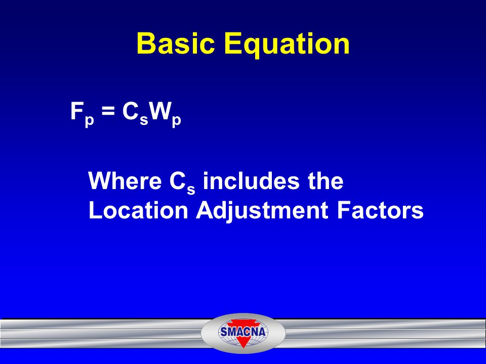 Basic Equation Fp = CsWp
