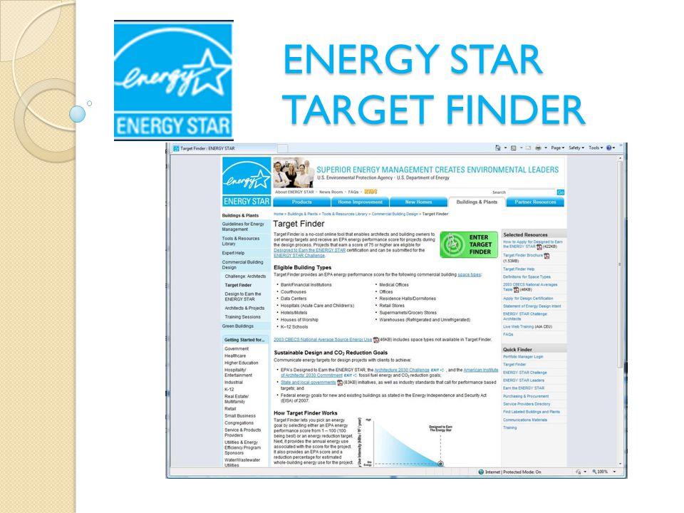 ENERGY STAR TARGET FINDER