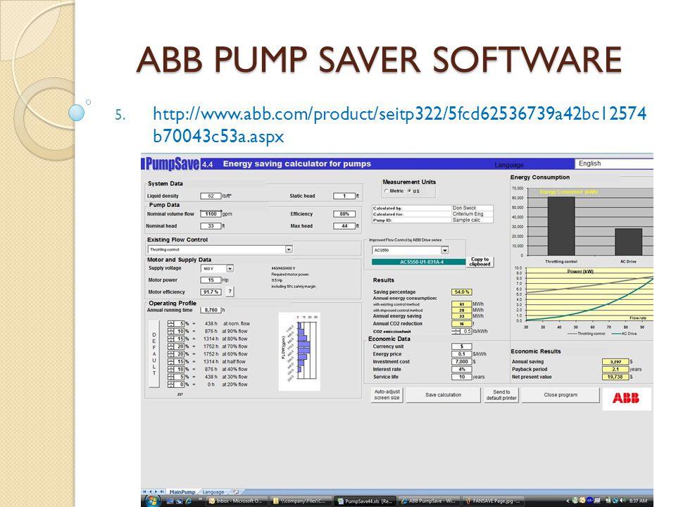 ABB PUMP SAVER SOFTWARE