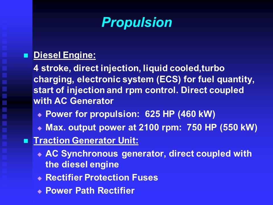 Propulsion Diesel Engine: