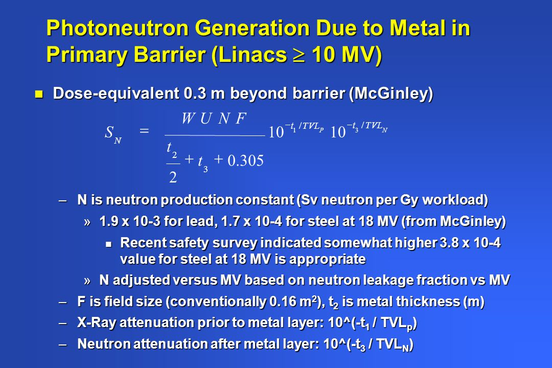 Photoneutron Generation Due to Metal in Primary Barrier (Linacs  10 MV)