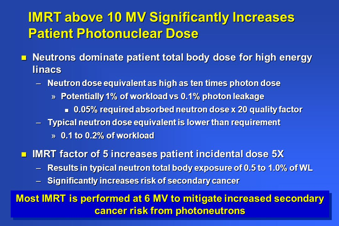 IMRT above 10 MV Significantly Increases Patient Photonuclear Dose