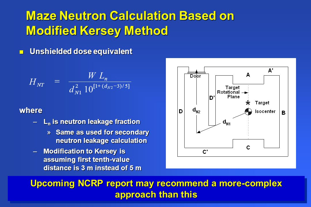 Maze Neutron Calculation Based on Modified Kersey Method