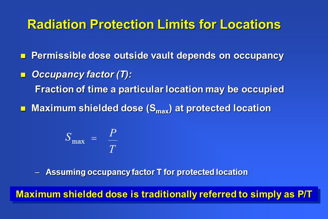Radiation Protection Limits for Locations