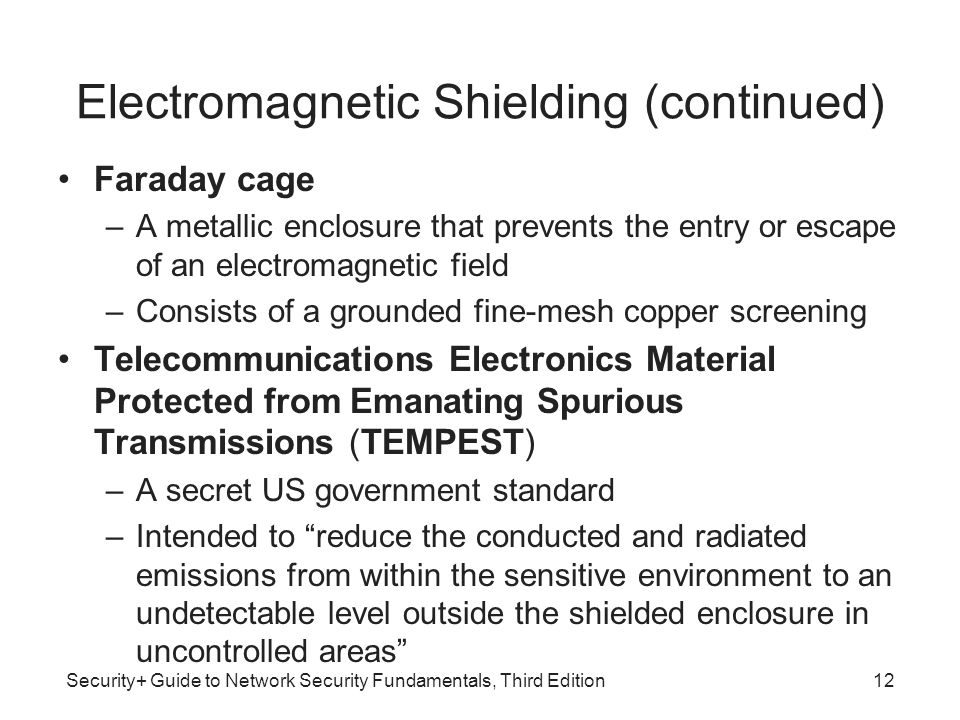 Electromagnetic Shielding (continued)