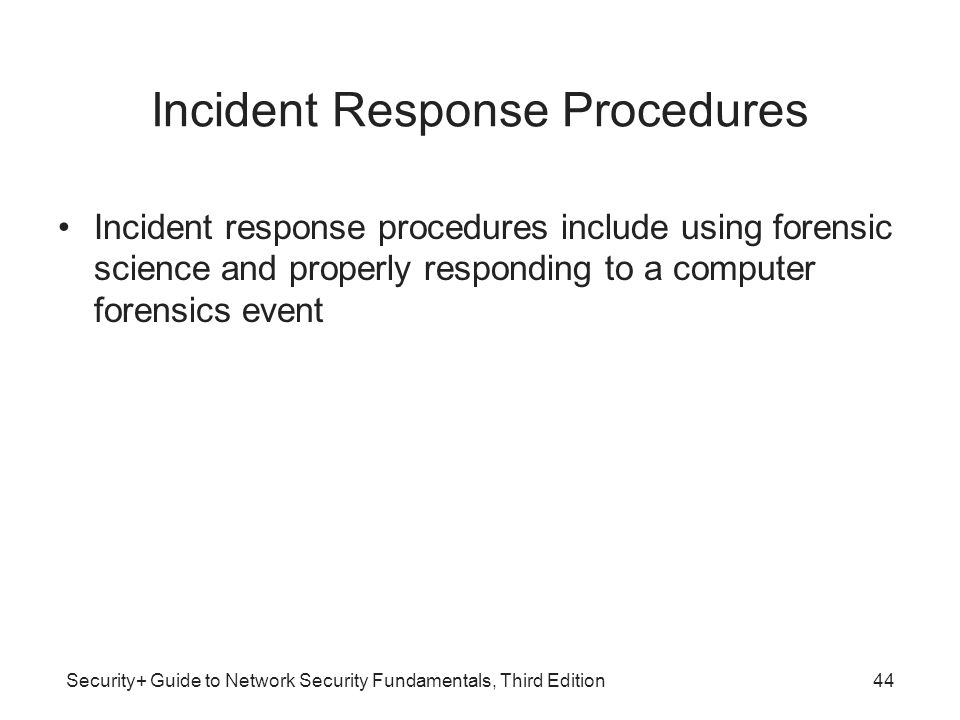 Incident Response Procedures