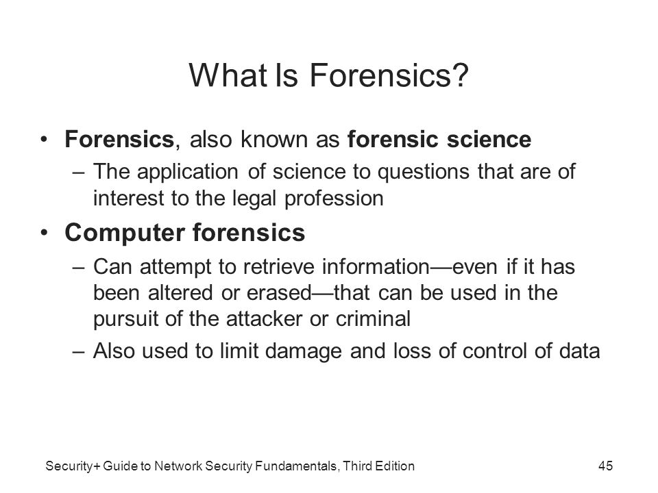 What Is Forensics Computer forensics