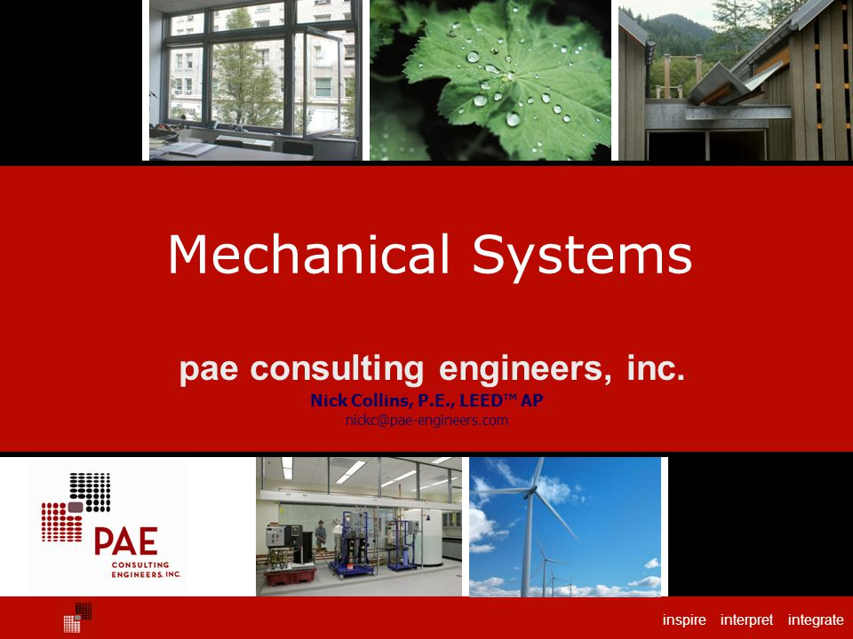 pae consulting engineers, inc. Nick Collins, P.E., LEED™ AP