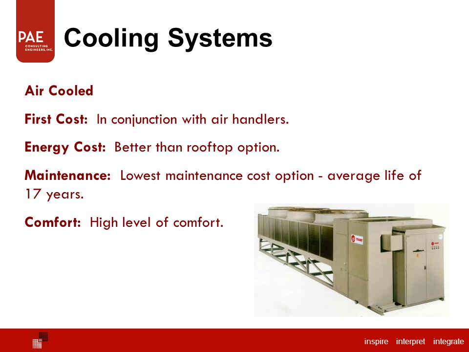 Cooling Systems Chilled Water Air Cooled