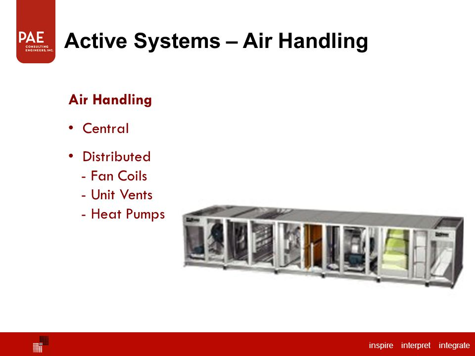 Active Systems – Air Handling