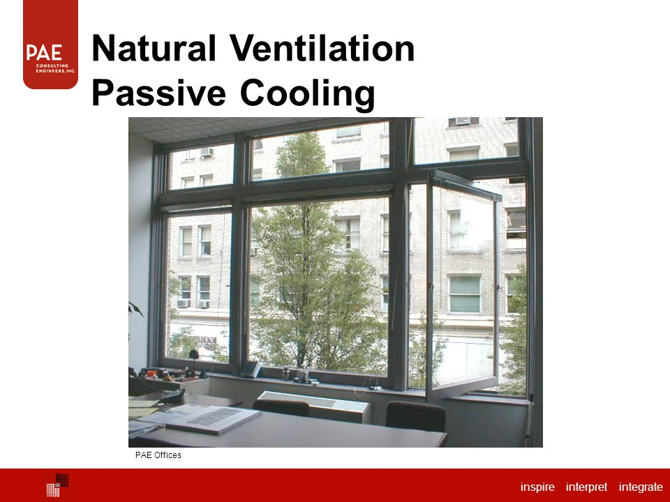 Natural Ventilation Passive Cooling PAE Offices