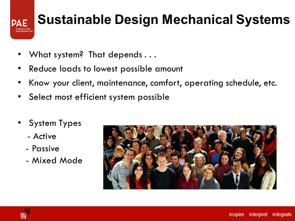 Sustainable Design Mechanical Systems