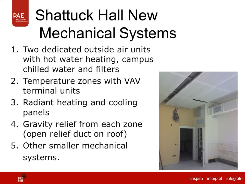 Shattuck Hall New Mechanical Systems