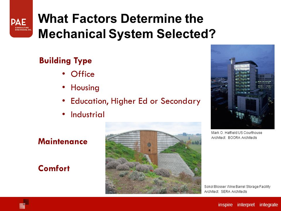 What Factors Determine the Mechanical System Selected