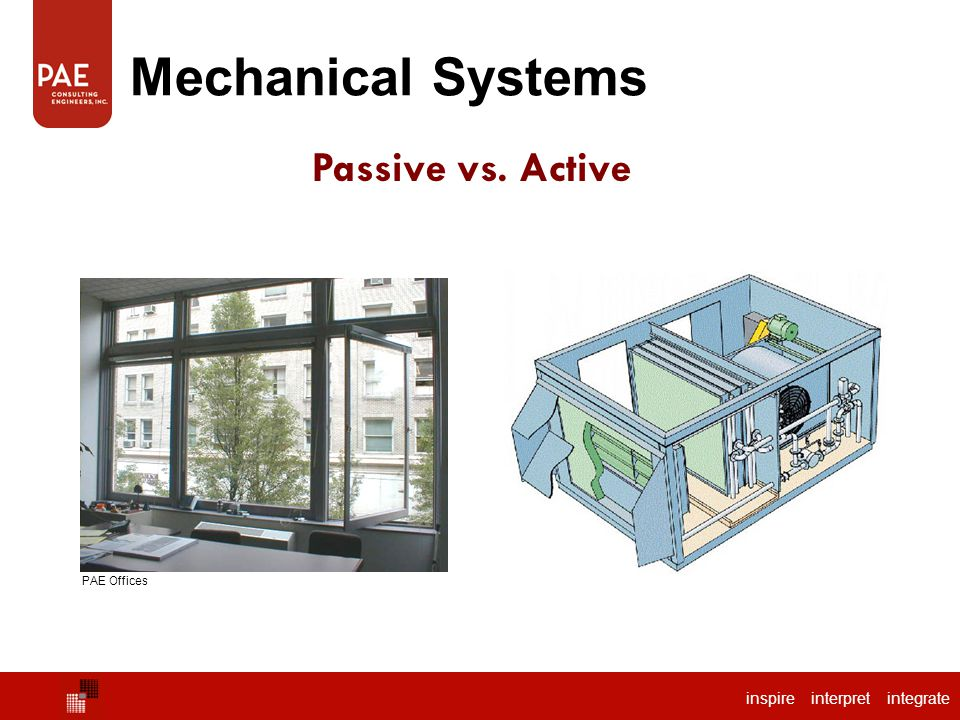 Mechanical Systems Passive vs. Active PAE Offices