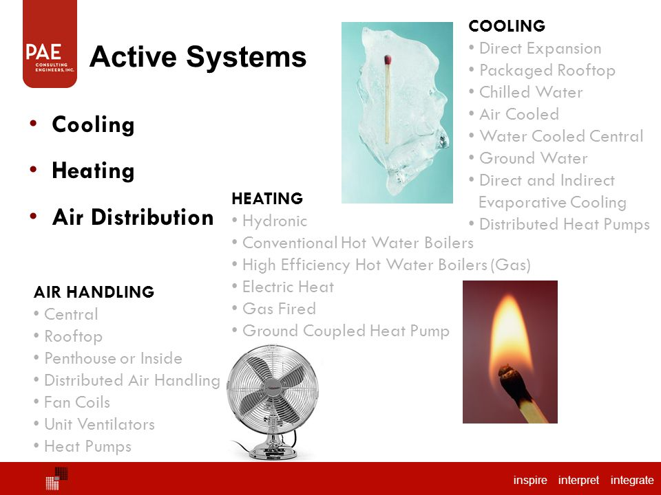 Active Systems Cooling Heating Air Distribution COOLING