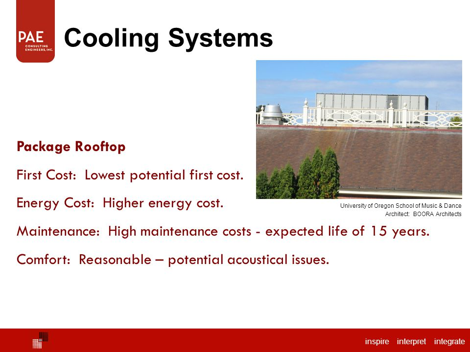 Cooling Systems Chilled Water Package Rooftop