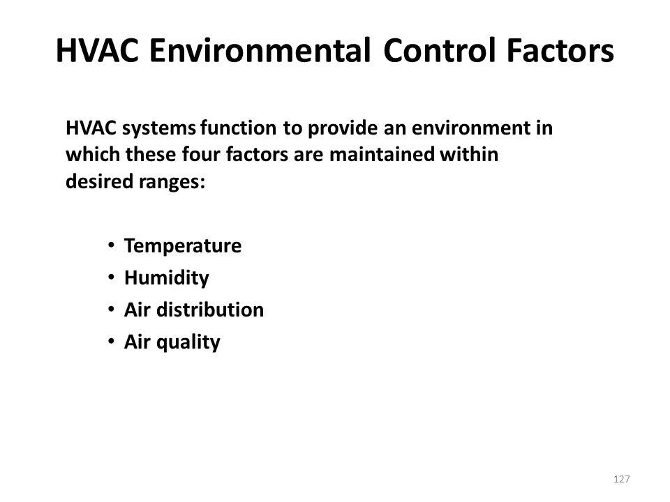 HVAC Environmental Control Factors